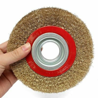1Pcs 8 Inch 200mm Steel Flat Wire Wheel Brush with 10pcs Adaptor Rings For Be SR