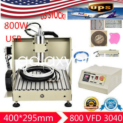 Usb Cnc Router Engraving Machine 4 Axis 3040T Cutter Crafts Carving Ball Screw