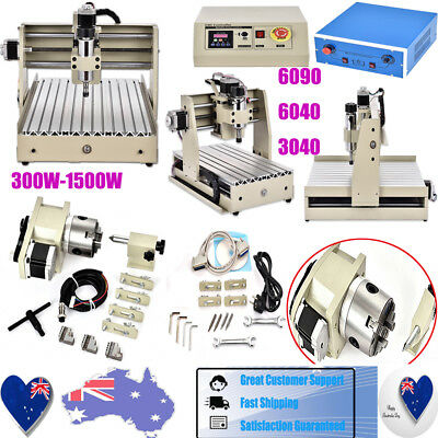 1500W 3/4 Axis CNC Router Engraver USB Engraving/Caving Machine 6090 6040 3040