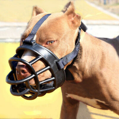 No Bite PitBull Dog Muzzle Silicone Strong Muzzle Basket For Big Dog Brush Comb