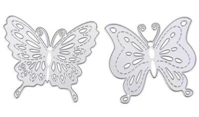 Butterfly Set Of 2 Craft Die Suitable for Sizzix Cuttlebug Die Cutting Machines
