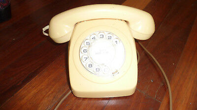 vintage retro telephone dial cream colour all working order