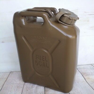 SCEPTER US Military Gas Can Fuel REAL Military MFC 5g gallon 20L JEEP ARMY Green