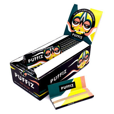 PU*FIZ Hemp Rolling Papers 70*36mm 25 Booklets=1250 leaves smoking