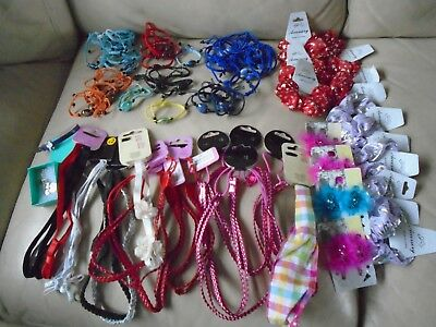 JOBLOT 77 NEW  pieces, hairbands, clips, rope bracelets, hair scrunchies,