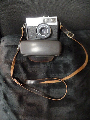 Alte Agfa Kamera Optima 500 sensor in Ledertasche