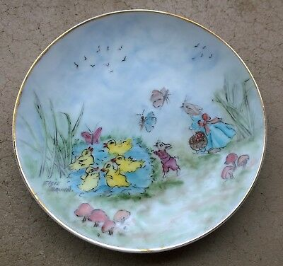 Vintage Nursery Plaque / Easter Plate - Hand Painted 1979
