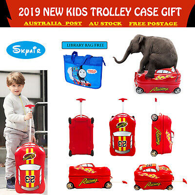 SKYAIR Cars Design Kids Ride On Luggage Children Travel Suitcase Wheels Hardcase