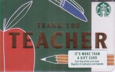 USA Starbucks card Teacher 6152 - l - Backside l
