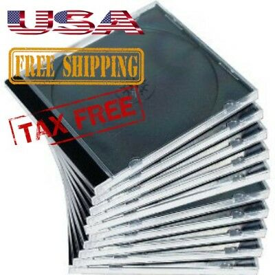 Jewel Case CD Clear Double Blu Ray High Quality Mediaxpo Plastic Safe 10 Pack