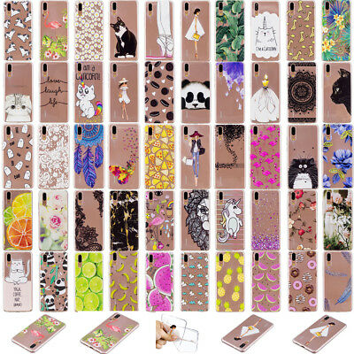 Fashion Soft Silicone TPU Skin Case Phone Back Cover For Huawei P20 Lite Enjoy7S