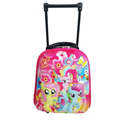 My Little Pony Travel Suitcase Girl Kid Child Toddler Luggage Trolley School Bag