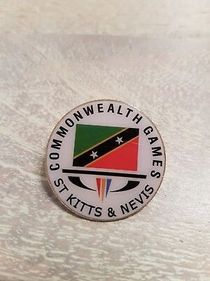 2018 Gold Coast Commonwealth Games Rare St Kitts and Nevis Pin