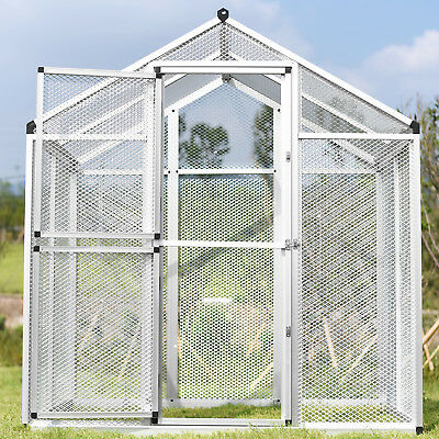Extra Large Bird Cage Parrot Cockatiel Budgie Pet Aviary Pegs Outdoor Breeding