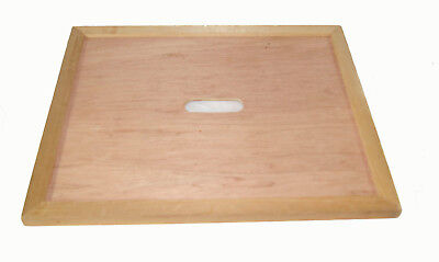 Beekeeping British Langstroth bee hive crown board with porter bee escape