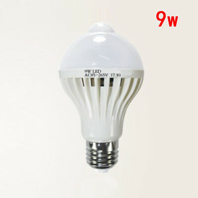 Motion Infrared Induction Led Saving E27 Light Bulb Pir 5/ Lamp Body 9w Sensor