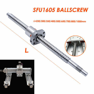 SFU1605 Rolled Ballscrew Ballnut Anti-Backlash L450mm End Machining Coupler
