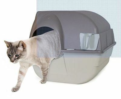Omega Paw Automatic Self-Cleaning Cat & Kitty Litter Box Cover Waste Receptacle