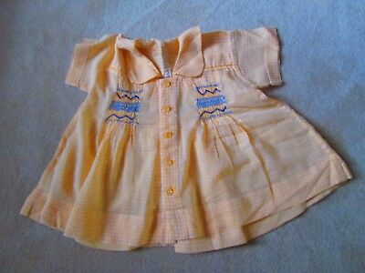 Original Vtg 40's Handmade Baby Dress - lovely smocking detail in a soft cotton