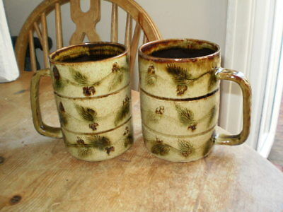 Lower Mill Studio Pottery Jersey - Pair Of Tankards/mugs - Vgc