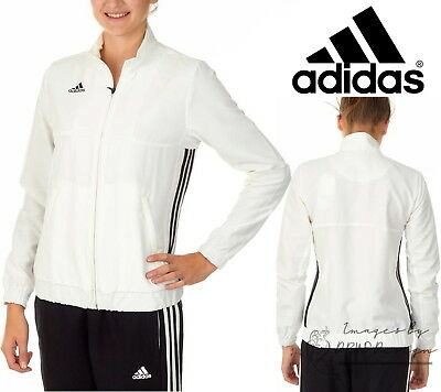 2e0838a31064 ADIDAS TEAM T16 Women s White Track Jacket Climalite Full Zip Sports ...