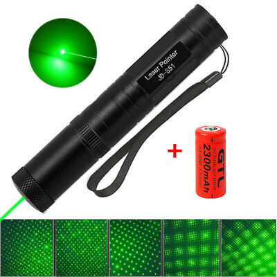Military Green 1mW 532nm JD851 Laser Pointer Pen Visible Beam Ray Zoom 16340