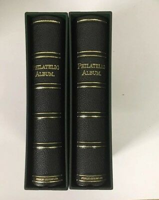 Stanley Gibbons Philatelic Album Slipcase And 40 Faced Leaves x1