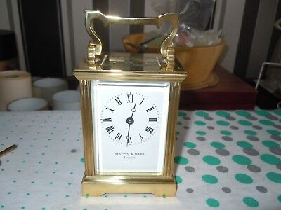 mappin and webb brass carriage clock,made in england,11j,needs attention