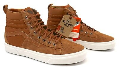 2d89dd24b5 Vans SK8-Hi MTE DX All Weather Mens Glazed Ginger Flannel Hi Top Trainers