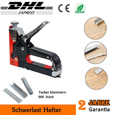 Tacker Set 3 in 1 Nagler Handtacker Hefter Klammergerät Hefttacker Klammer Nagel