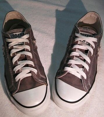 Converse One Star**Gray Canvas Low Top Sneakers Women Size US 6