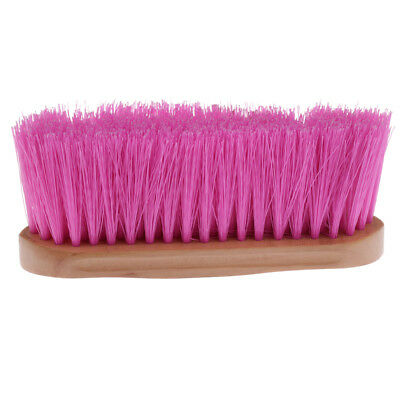 Horse Brush for Horse Grooming with Wood Grip Horse Farming Supplies Pink