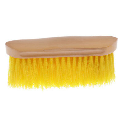 English Soft Body Brush with Comfortable Wood Grip Grooming Supplies Yellow