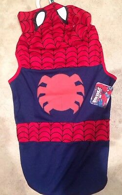 NEW LARGE Spiderman Dog COSTUME Marvel Comics Superhero Pet Party OUTFIT L & NEW XS SPIDERMAN DOG COSTUME X-SMALL Marvel Comics Superhero Pet ...
