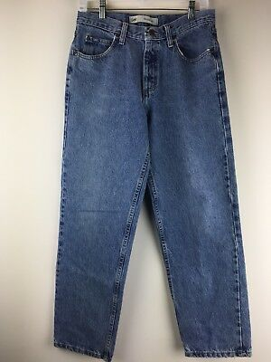 Lee Mens Jeans Relaxed Fit Tapered 31x30 Vintage 90's Cotton Blue Denim Jeans