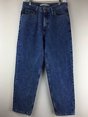 Lee Mens Jeans Relaxed Tapered 31x30 Vintage 100% Cotton Blue Denim Pants