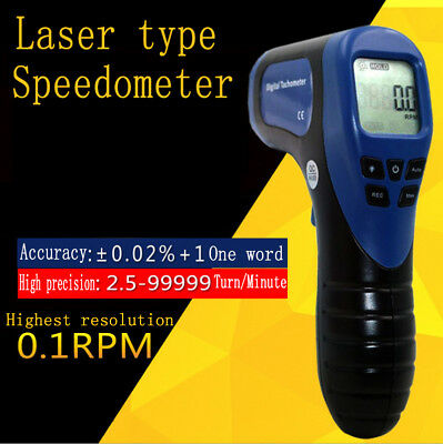 Digital Laser Photo Tachometer Gun Non-contact Rpm Tach Tester Meter SpeedGauge