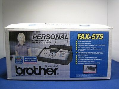 Brand New Brother Fax-575 Personal Plain Paper Fax, Phone And Copier