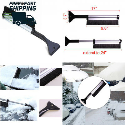 Dooppa Extendable Ice Scraper with Snow Brush for Car Windshield