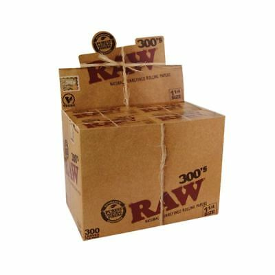 Raw Rolling Paper Classic 1 1/4 300 Leaves 1-40 Booklets