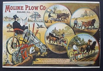 Moline Plow Co. - The Electric Flying Dutchman Advertising Card - Moline, Il