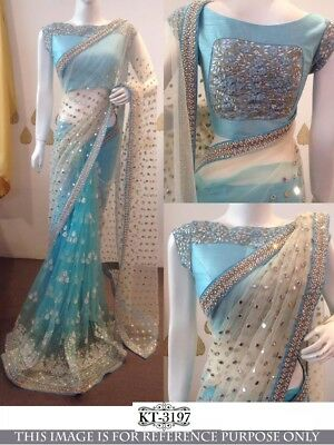Real Pic Atta.Bollywood Indian Ethnic wear New Saree Designer Wedding Tradition