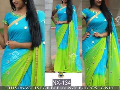 Eid Saree Dynamic Indian Ethnic Pakistani tradiction Wedding Partywear Sari