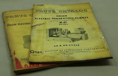 Vintage ONAN EC & HQ Parts Catalogs 928-4 921-7