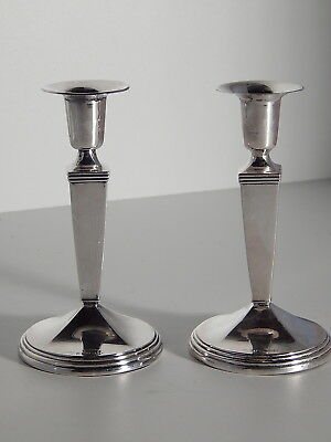 Coppia Candelabri Argento 925 Del 1958 Solid Silver Couple Candle Holder