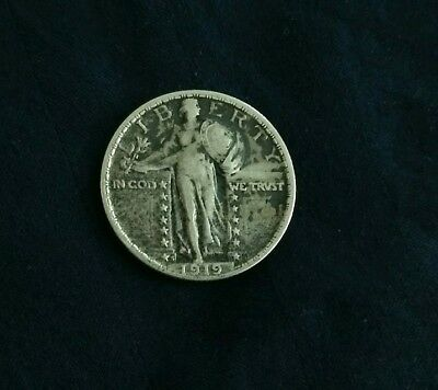 1919 s Standing Liberty Quarter Silver Very Fine condition