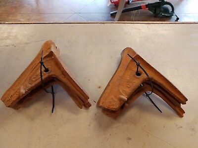 Lot of 6 Antique Vintage Plow Blades GX Massey Macon GA
