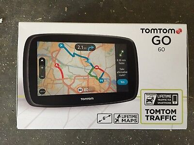 """TomTom Go 60 6"""" Touch Screen Sat Nav GPS with Lifetime Europe Maps & Traffic"""