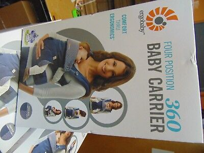 ERGObaby Four Position 360 Carrier, Dusty Blue Free US Shipping