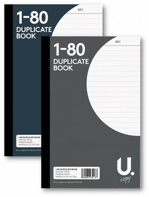 Duplicate Book Number 1-80 Page Full Size Carbon copy Shop Office Work(P1019)